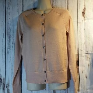 Woman's peach Loft Cardigan size xs